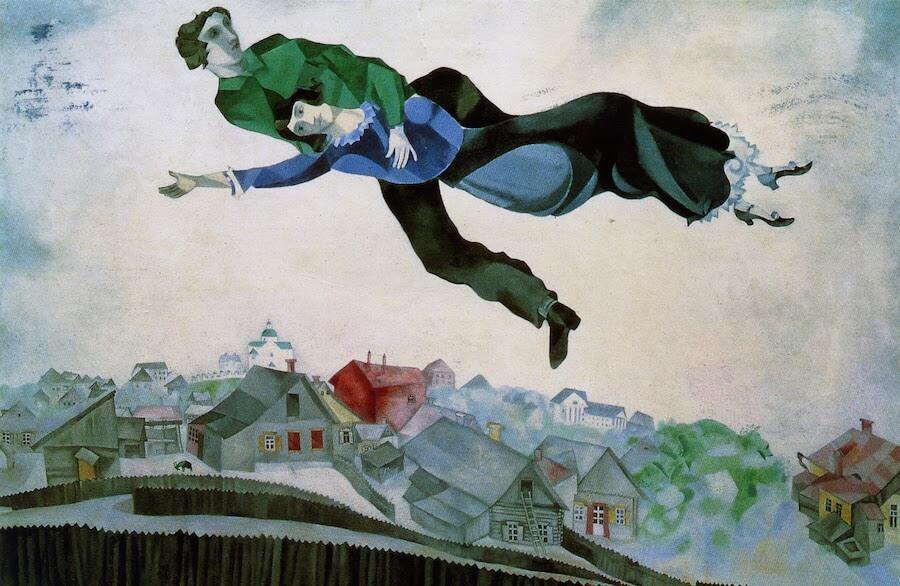 Marc-Chagall-Sulla-città-1918